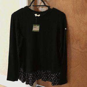 Kate Spade sweater ruffle top